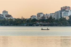 View of Rodrigo de Freitas Lagoon in Rio de Janeiro Brazil. photo