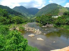 Macae River seen from the entrance to the city of Sana photo