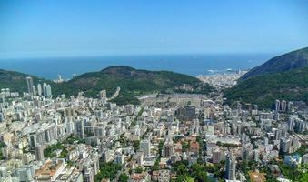 view from the top of the viewpoint dona marta in Rio de Janeiro. photo
