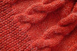 fondo de punto. textura de punto. patrón de tejido de lana. foto