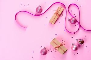 Christmas bright colored decorative background photo