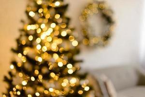 diseño festivo de desenfoque de navidad foto