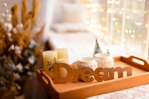 Beautiful holdiay decorated room photo