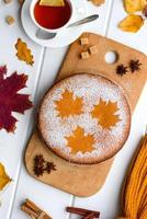 Beautiful fresh sweet pumpkin cake photo