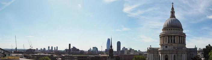 Wide panoramic view of London photo