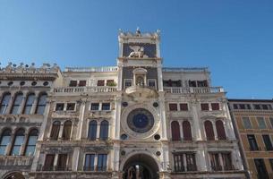Torre del reloj de San Marcos en Venecia. foto