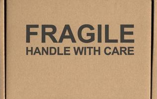 Fragile handle with care label tag photo