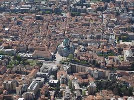 vista aérea, de, como, italia foto