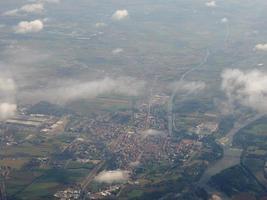 Aerial view of Chivasso photo