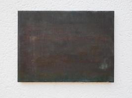 placa de bronce en blanco foto