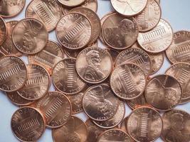 Fondo de monedas de dólar foto