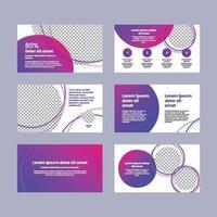 Plantilla de presentación de colores degradados planos y modernos. vector