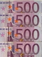 Billete de 500 euros, unión europea foto