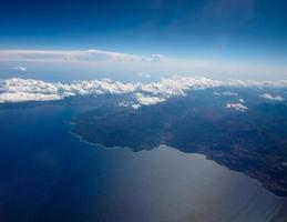 vista aerea de cerdeña foto