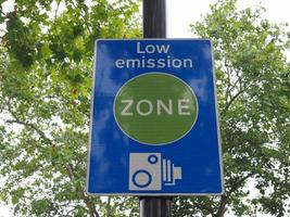 Low emission zone sign in London photo
