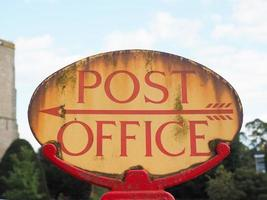 Post office sign photo