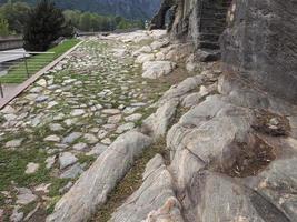 antigua calzada romana en donnas foto