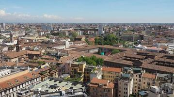 Aerial view of Milan, Italy photo