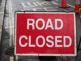 road closed sign photo