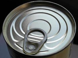 Can of canned food photo