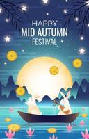 Mid Autumn Mooncake Festival Concept vector