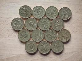 Pound coins, United Kingdom photo