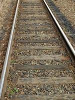 vías del tren de ferrocarril foto