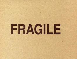 Fragile warning on packet photo
