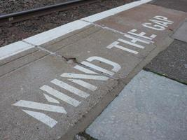 Mind the gap in London photo
