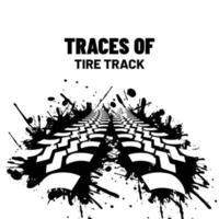 Traces of a big car vector