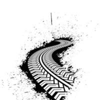Long distance car traces vector
