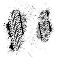 Traces of a double brushed car vector