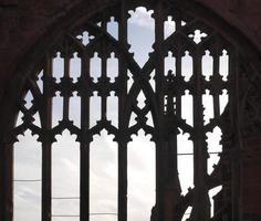 Ancient gothic window photo