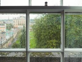 Wet window pane photo