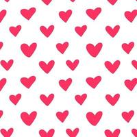 Repeated outlines of hearts drawn by hand. vector
