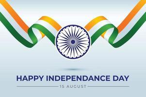 Ilustración de vector de día de la independencia india con tricolor
