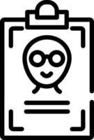 icono de línea para el nombre vector