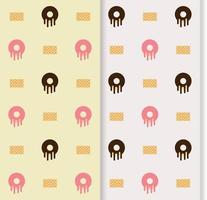colorful seamless pattern with dessert vector