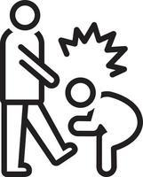 icono de línea para abusivo vector