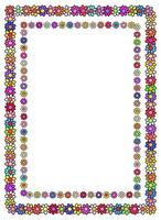 Floral Doodle Daisy Page Border vector