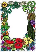 Floral Garden Page Border Decoration vector