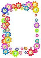 Happy Flower Daisy Page Border vector