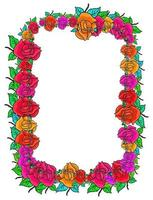 Rose Flower Daisy Page Border vector