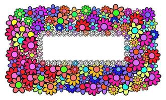 Daisy Floral Page Banner Border vector