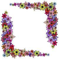 Flower Corner Border Page Decor vector