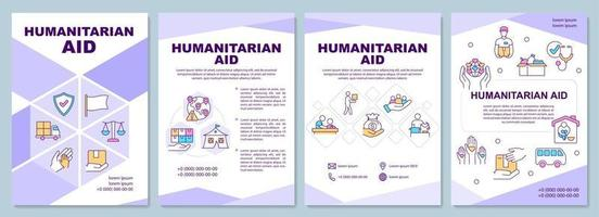 Humanitarian aid and shelter opportunity brochure template. vector