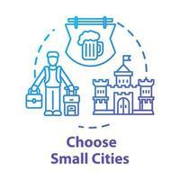 Choose small cities concept icon vector