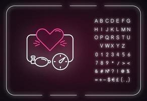 High blood pressure neon light icon vector