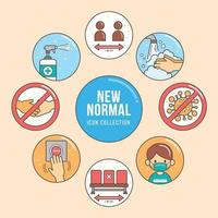 New Normal Icon Collections vector