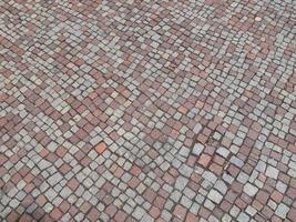 Stone floor tiles photo
